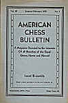 AMERICAN CHESS BULLETIN / 1952 