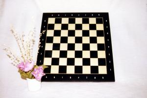Board / Alpi/Maple, inlaid, square 50 mm