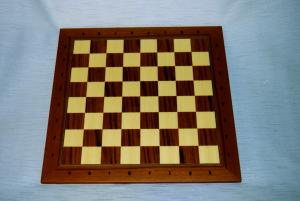 Board / Teak/Maple, inlaid, square 50 mm