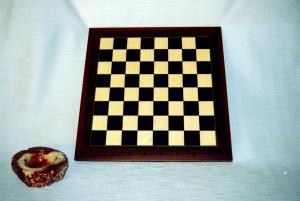 Board / Palisander/Maple, inlaid, square 55